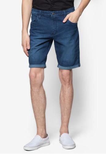 水洗捲邊丹寧短褲, 服zalora鞋飾, 服飾
