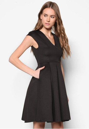 Collection Effortless Plungezalora 包包 ptt Midi Dress, 服飾, 正式洋裝