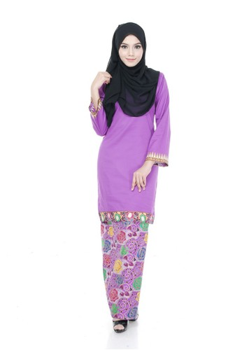 Kurung Modern Shila (Purple) from Nur Shila in Purple