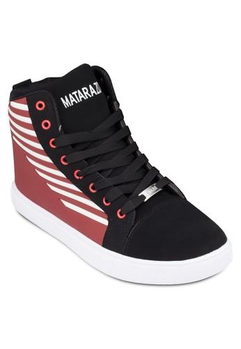 印花高筒厚底運動鞋, zalora鞋子評價鞋, 鞋