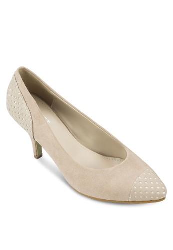 Jeanine 拼色印花尖頭高跟鞋, 女鞋zalora 鞋評價, 厚底高跟鞋