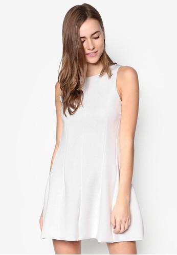 簡約無袖zalora taiwan 時尚購物網鞋子連身裙, 服飾, 洋裝