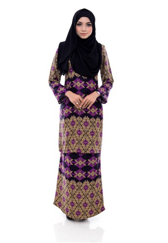 Kurung Modern Humaira (Purple) from Nur Shila in Purple