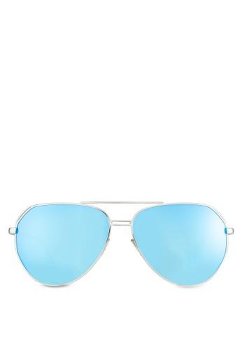 飛行員反光太陽眼鏡,zalora 評價 飾品配件, 飛行員框