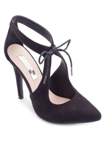 鏤空尖頭麂皮高跟鞋, 女zalora 鞋評價鞋, 鞋
