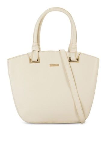 zalora時尚購物網評價牌飾鵝卵紋手提包, 包, 包