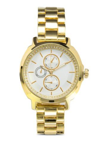男友風zalora 泳衣閃飾指針鍊錶, 錶類, 休閒型