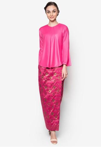 Hamidah Kurung from Seleksi Akma in Pink