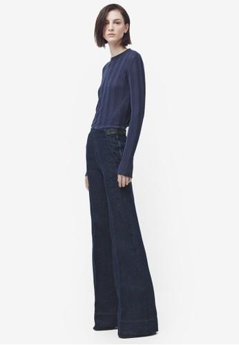 Premiuzalora是哪裡的牌子m 喇叭丹寧寬褲, 服飾, 長褲及內搭褲