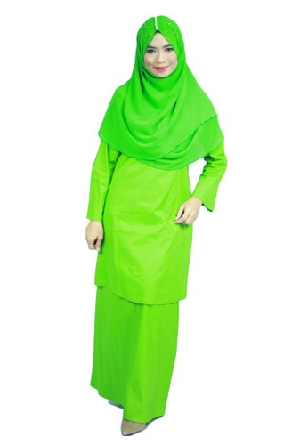 Baju Kurung Moden Ariani – Lime Green from anisse in Green