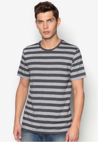 撞色條紋TEE,zalora 台灣 服飾, T恤