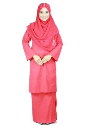 Baju Kurung Pahang Amina - Red from anisse in Red