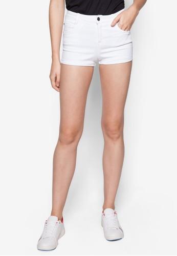 簡約丹寧短褲, 服飾,mango台灣 休閒短褲