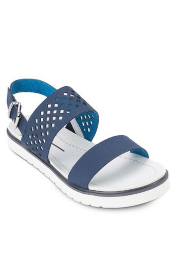 雕花繞踝zalora時尚購物網評價涼鞋, 女鞋, 鞋