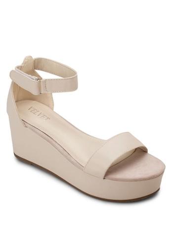 Victoria 厚底包跟涼鞋, 女zalora 衣服評價鞋, 楔形涼鞋