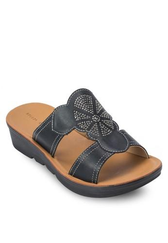 Spzalora鞋子評價eedy 花飾厚底涼鞋, 女鞋, 鞋