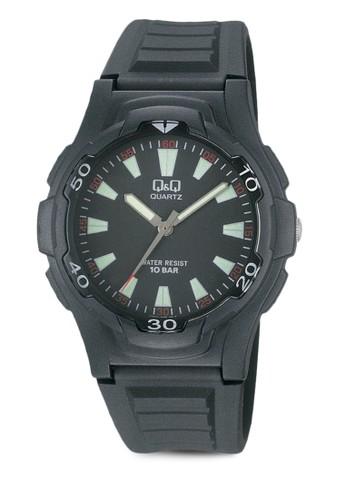Q&ampzalora鞋;Q VP84J005Y 矽膠坦克手錶, 錶類, 其它錶帶