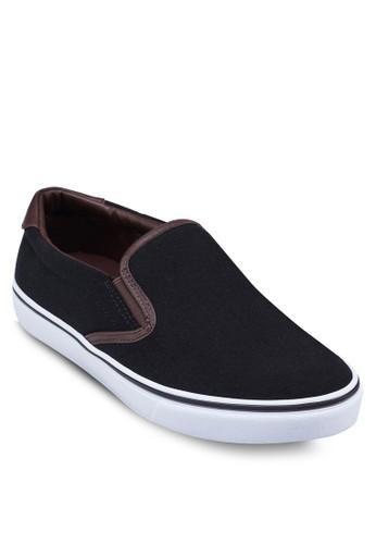 撞色滾邊帆布懶人鞋,zalora 鞋評價 鞋, 男鞋