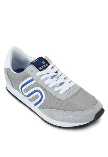 條紋邊飾繫帶運動鞋, 鞋, Foozalora 順豐twear