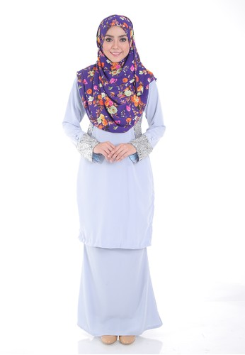 Arianna Modern Kurung from Saqma Boutique in Silver