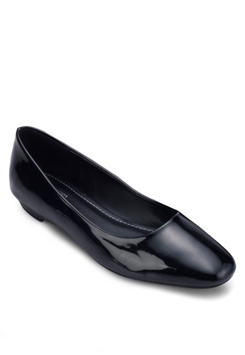 Holzalora鞋子評價ly 簡約方頭低跟鞋, 女鞋, 鞋