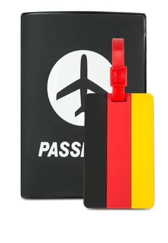 護照夾及zalora taiwan 時尚購物網鞋子德國國旗行李吊牌套組, 飾品配件, 飾品配件
