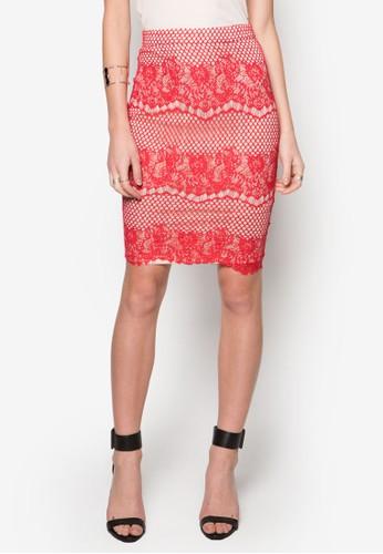 蕾絲鉤花及膝裙, 服飾, 服zalora鞋飾