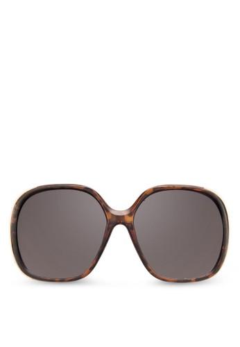 Olelalle 方框太陽眼zalora鞋子評價鏡, 飾品配件, 大框