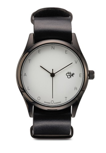 Never To Late 皮革圓錶, 錶類, 皮zalora 折扣碼革錶帶