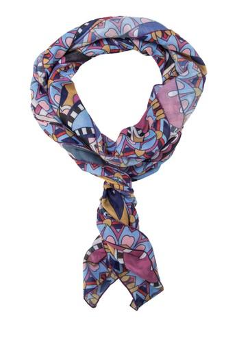 印花絲巾,zalora 台灣 飾品配件, 披肩