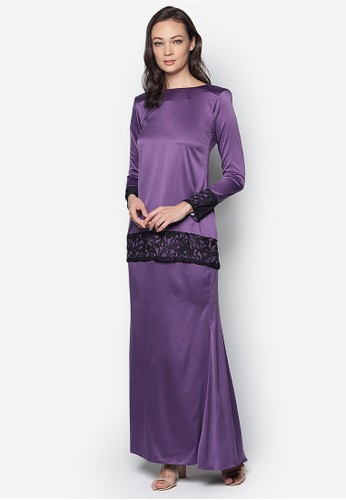 Sahara Kurung Modern from Izzabell Couture in Purple