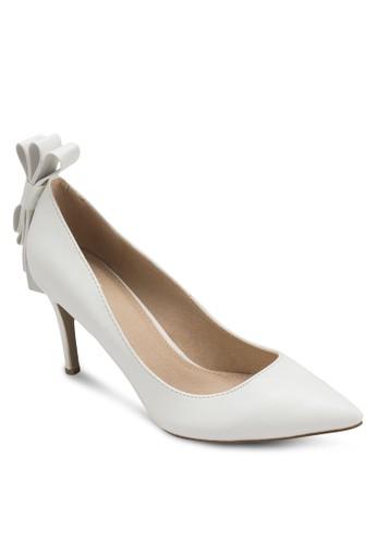 Holly 蝴蝶結尖頭高zalora 評價跟鞋, 女鞋, 厚底高跟鞋