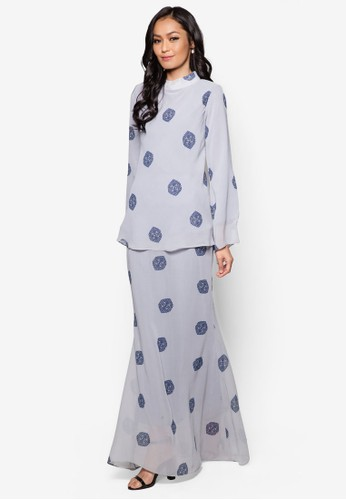 Mini Kurung Princess Cut from Zuco Fashion in Grey