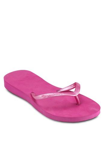 印zalora 順豐花夾腳拖, 女鞋, 拖鞋
