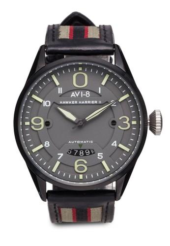 Hawker Hzalora 鞋評價arrier II 皮革腕錶, 錶類, 錶類
