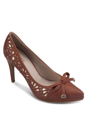 鏤空尖頭zalora鞋蝴蝶結高跟鞋, 女鞋, 厚底高跟鞋