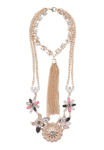 Colouzalora 鞋評價rful Blast Tassel Back Necklace, 飾品配件, 飾品配件