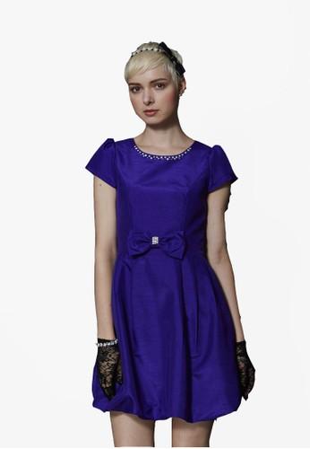 復古娃娃花苞裙zalora是哪裡的牌子洋裝, 服飾, 短洋裝