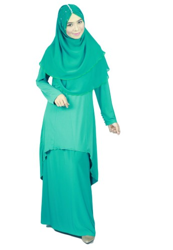 Aleyka Baju Kurung Green from anisse in Green