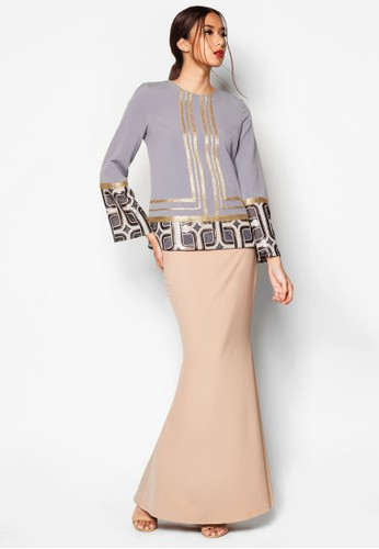 Art Deco Ashka Baju Kurung from Jovian Mandagie for Zalora in Multi