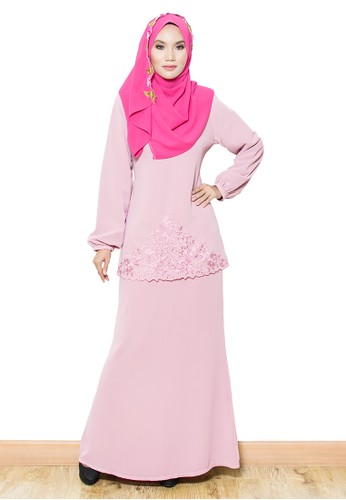 Sandra Kurung Moden- Pink Dusty from Yaty's in Pink