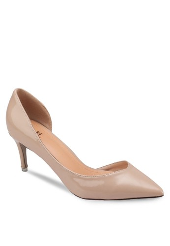 側鏤空尖頭高跟鞋zalora鞋, 女鞋, 鞋