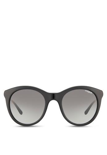 拼色貓眼太陽眼鏡,zalora 台灣 飾品配件, 飾品配件