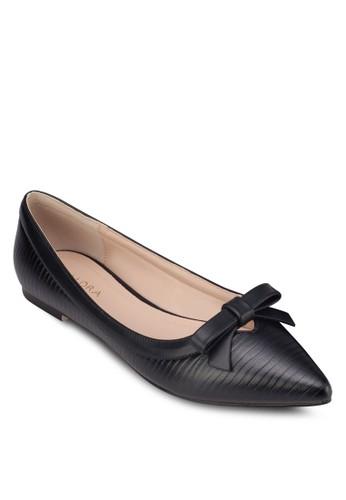 蝴蝶結尖頭平zalora 心得底鞋, 女鞋, 芭蕾平底鞋