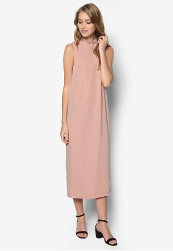 開衩無袖連zalora taiwan 時尚購物網鞋子身長裙, 服飾, 洋裝