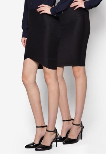 Jane & Elisa 二入鉛筆裙zalora 包包評價組, 服飾, 裙子