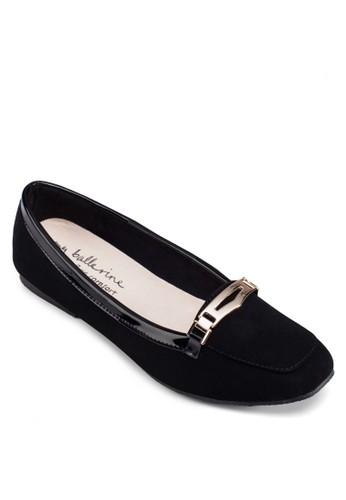 Zairzalora 台灣a 牌飾方頭平底鞋, 女鞋, 芭蕾平底鞋