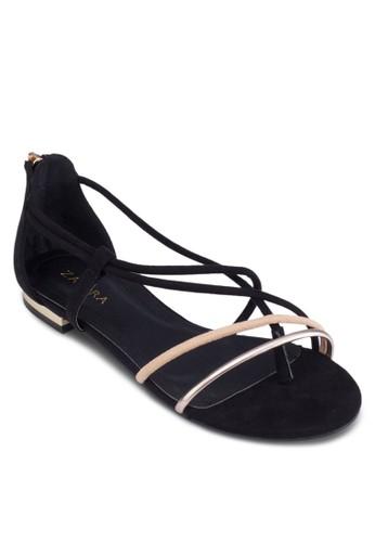 彩色多帶包跟平地涼鞋, 女zalora 折扣碼鞋, 涼鞋