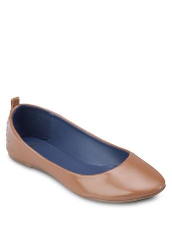 圓頭鉚釘平底鞋zalora 評價, 女鞋, 芭蕾平底鞋