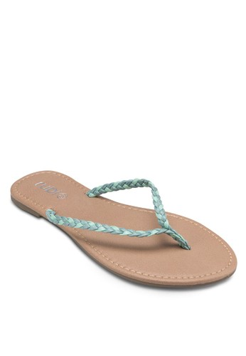 Tea zalora鞋子評價編織帶夾腳拖, 女鞋, 鞋